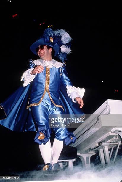 Elton John in concert circa 1982 in New York City