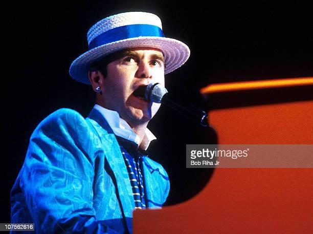 Elton John in concert in Los Angeles Calif
