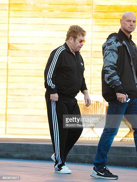 Elton John is seen on January 26 2017 in Los Angeles California