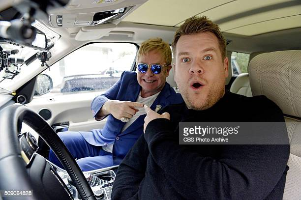 Elton John joins James Corden for Carpool Karaoke on 'The Late Late Show with James Corden' airing Sunday February 7th 2016 on The CBS Television...