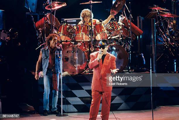 Elton John joins The Who for a performance of 'Tommy' at the Universal Amphitheater in Los Angeles California on August 24 1989