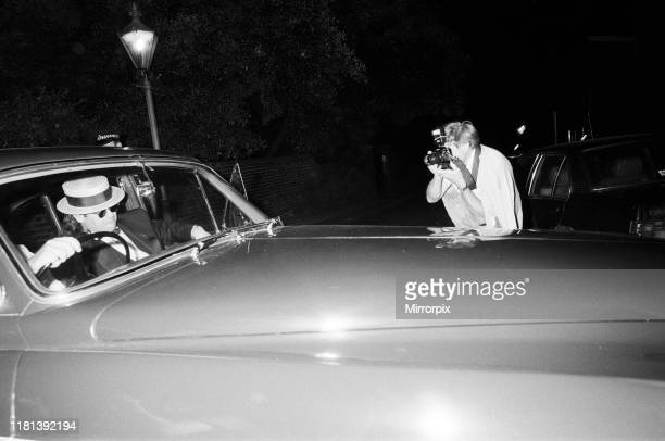 Elton John leaving Prince Andrew's stag party. 15th July 1986.