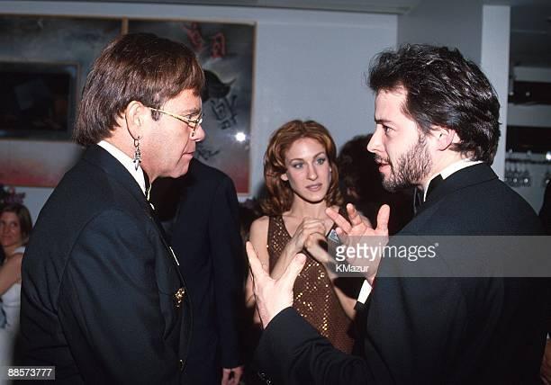 Elton John Matthew Broderick and Sarah Jessica Parker