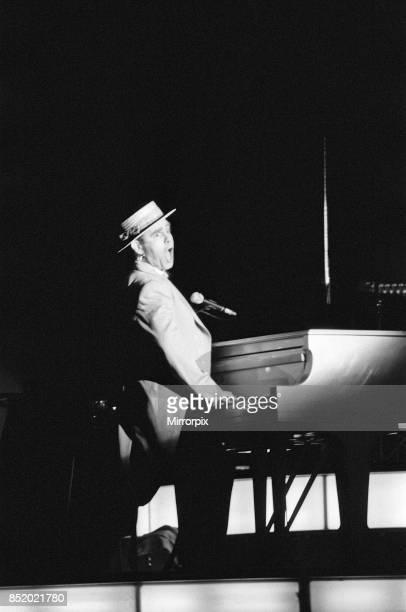 Elton John on his European Express Tour which was the European leg of his 1984 Breaking Hearts Tour, National Exhibition Centre, Birmingham, 23rd...