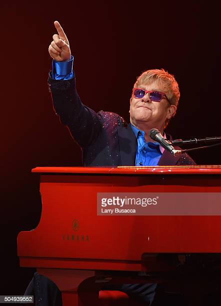 Elton John performed songs from his new album Wonderful Crazy Night out February 5 as well as classic hits on January 13th at the Wiltern in Los...