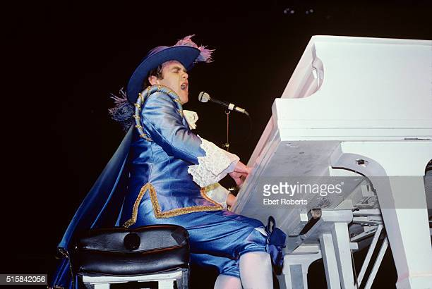 Elton John performing at Madison Square Garden in New York City on August 6 1982
