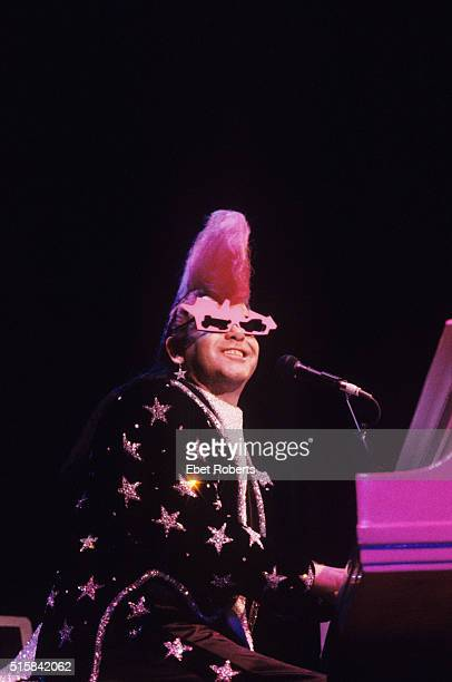 Elton John performing at Madison Square Garden in New York City on September 11 1986