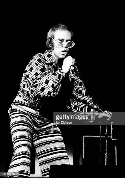 Elton John performing on stage at City Hall Newcastle upon Tyne United Kingdom 07 March 1973