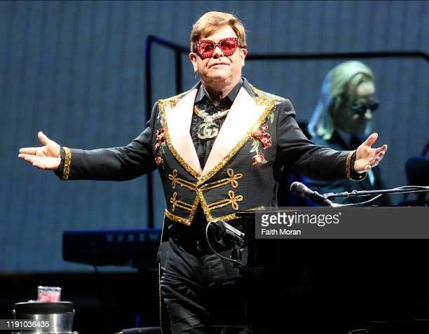 Elton John performs at HBF Park on November 30 2019 in Perth Australia
