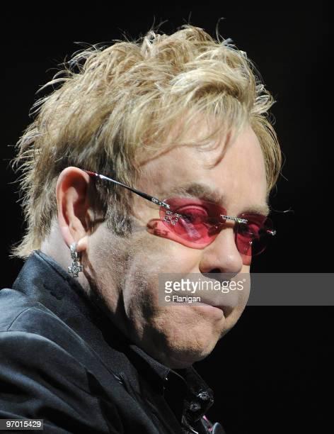 Elton John performs at the HP Pavilion on February 16 2010 in San Jose California