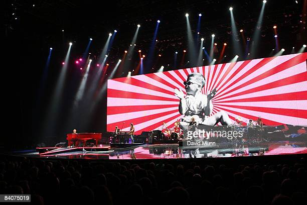 Elton John performs at The Liverpool Echo Arena on December 17, 2008 in Liverpool, England