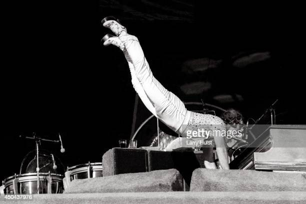 Elton John performs at the Los Angeles Coliseum in Los Angeles California on October 25 1975