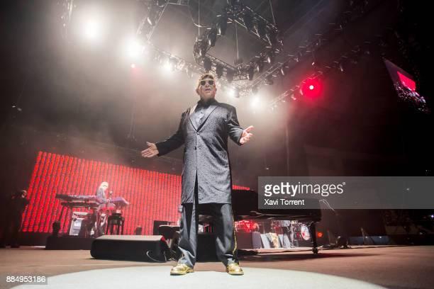 Elton John performs in concert at Palau Sant Jordi on December 3 2017 in Barcelona Spain