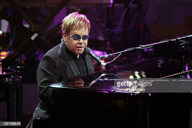 Elton John performs on ABC's Good Morning America at the Beacon Theatre on October 20 2010 in New York City
