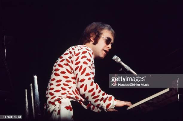 Elton John performs on stage at Shibuya-Kokaido, Tokyo, Japan, 10th May 1971.