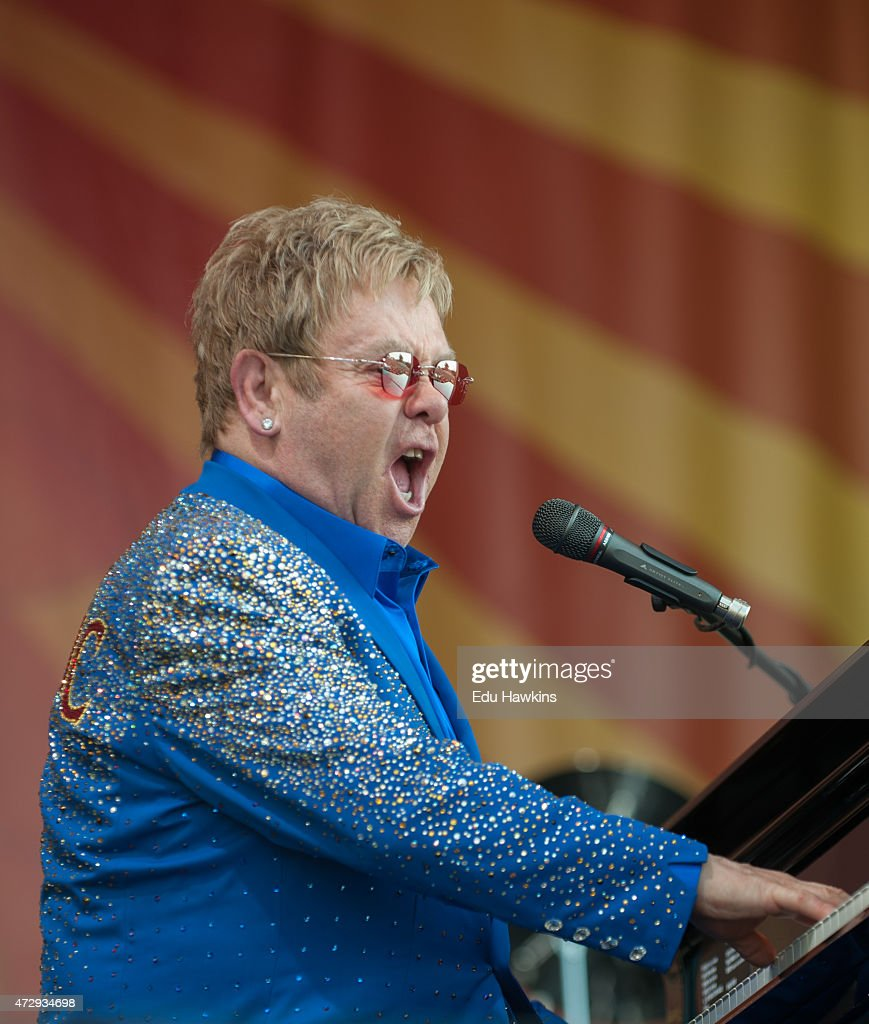 Elton John Performs On The Acura Stage At The New Orleans