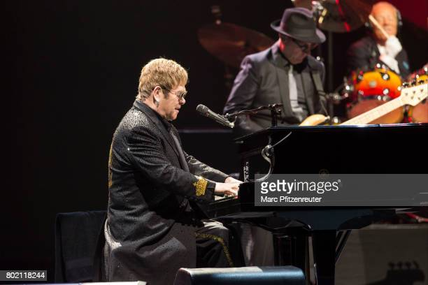 Elton John performs onstage at the Lanxess Arena on June 27 2017 in Cologne Germany