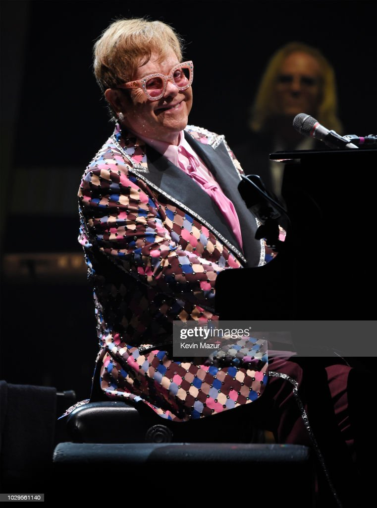Elton John performs onstage during his 'Farewell Yellow Brick Road' tour at PPL Center on September 8, 2018 in Allentown, Pennsylvania.