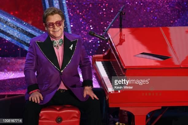 Elton John performs onstage during the 92nd Annual Academy Awards at Dolby Theatre on February 09, 2020 in Hollywood, California.