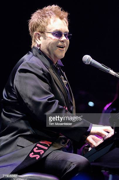 Elton John performs the second US date of The Captain and the Kid Tour at the HP Pavilion on September 16 2006 in San Jose California
