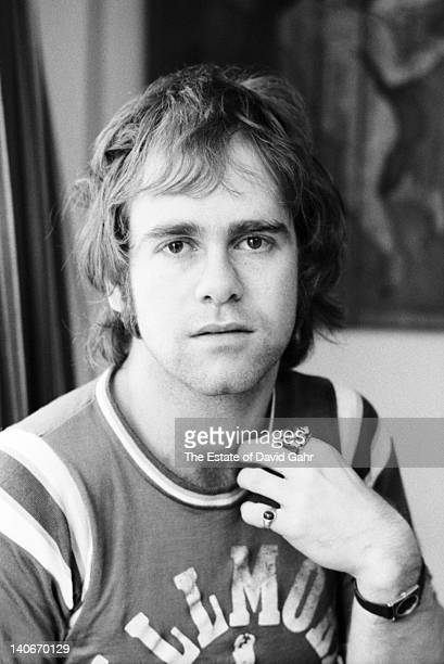 Elton John poses for a portrait in November 1970 in New York City New York