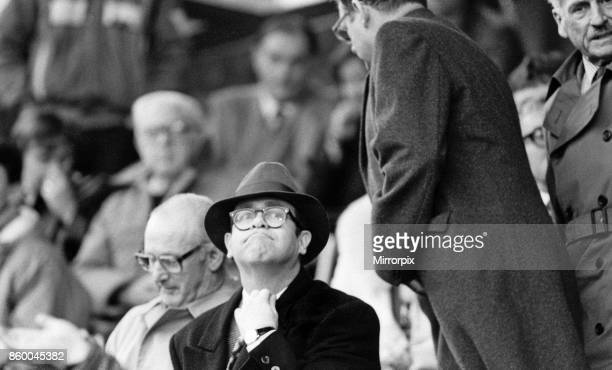 Elton John watching the Oxford United v Watford football match Final score 11 League Division One Elton John had announced days before that he was...
