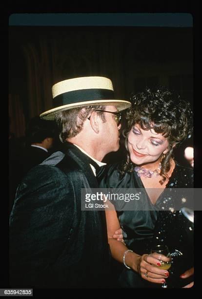 Elton John with his wife Renate Blauel.