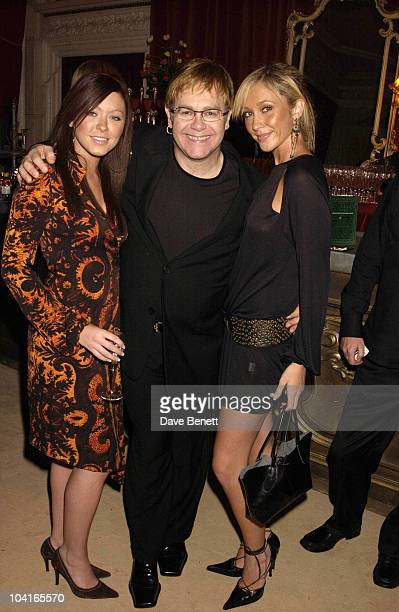 Elton John With The Atomic Kittens Natasha Hamilton And Jenny Frost Perriet Jouet Belle Epoque Party In Aid Of The Elton John Aids Foudation...
