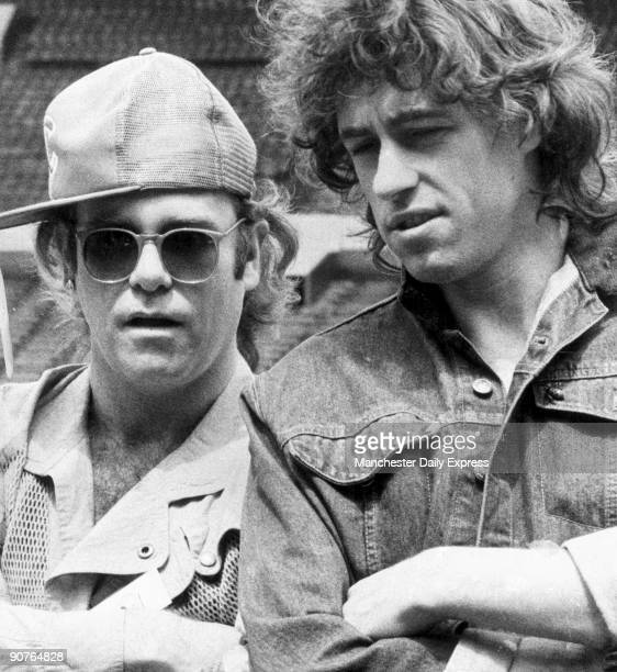 Elton joins Bob Geldof to publicise the Live Aid concert at Wembley Stadium Irish singer Bob Geldof moved by the appalling famine in Africa organised...