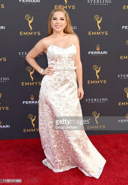 Elva Saray arrives at the 71st Los Angeles Area Emmy Awards at Television Academy's Wolf Theatre at the Saban Media Center on July 27, 2019 in North...