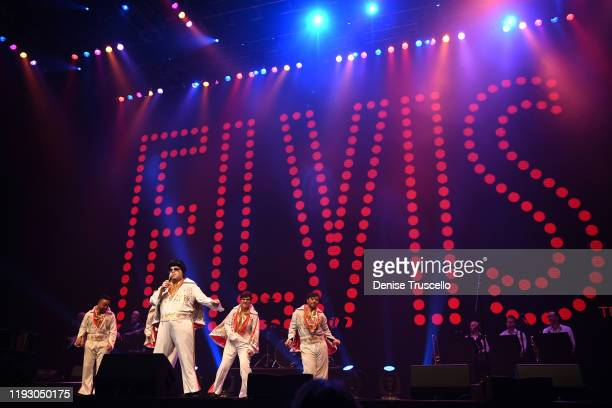 Elvi perform at the 6th anniversary of Mondays Dark With Mark Shunock at the Pearl Concert Theater at Palms Casino Resort on December 09, 2019 in Las...
