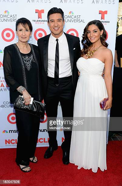 Elvia Lopez TV personality Mario Lopez and actress Courtney Lopez attend the 2013 NCLR ALMA Awards at Pasadena Civic Auditorium on September 27 2013...
