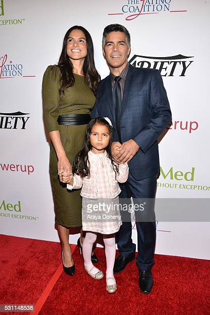 Elvimar Silva Mariana Oliveira Morales and Esai Morales attend the AltaMed Health Services' Power Up We Are The Future Gala at the Beverly Wilshire...