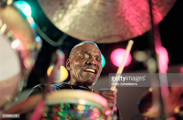 Elvin Jones, drums, performs on July 10th 1999 at the North Sea Jazz Festival in the Hague, Netherlands.