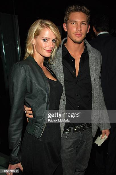 Elvira and Adam Senn attend ITALO ZUCCHELLI and CALVIN KLEIN COLLECTION Host a Dinner Celebrating VMan and the Boys of Wilhelmina 2007 Calendar at Mr...