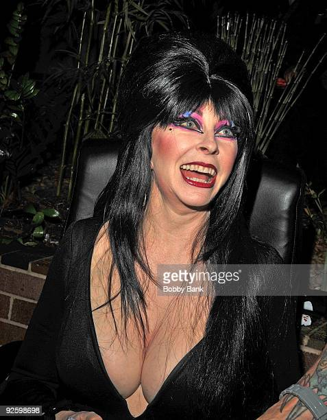 Elvira attends the Chiller Theatre Expo at the Hilton Parsippany on October 31 2009 in Parsippany New Jersey