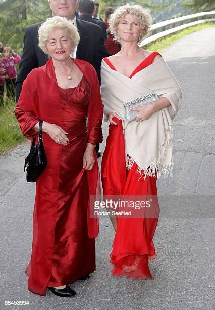 Elvira Becker mother of Boris Becker and Sabine BeckerSchorp sister of Boris Becker arrive for the church wedding of Boris Becker and Sharlely...