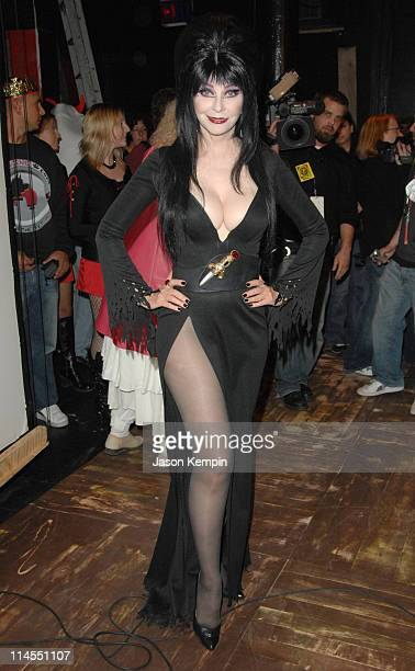 Elvira during 2006 West Village Halloween Day Parade October 31 2006 at West Village in New York City New York United States