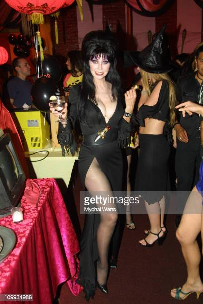 Elvira during Elvira's PreParty for Elvira's Haunted Hills in New York City New York United States