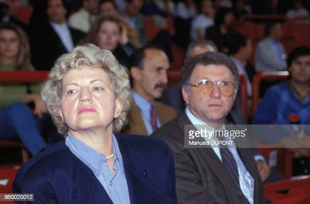 Elvira et KarlHeinz Becker parents du champion de tennis Boris Becker au tournoi de tennis de Bercy le 4 novembre 1990 à Paris France