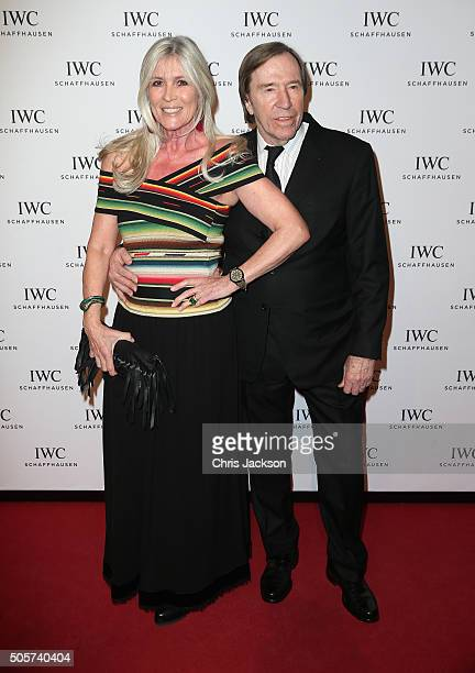 Elvira Lang Netzer and Gunter Netzer attend the IWC Come Fly With Us Gala Dinner during the launch of the Pilot's Watches Novelties from the Swiss...