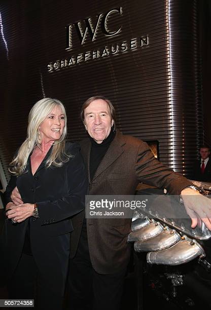 Elvira Lang Netzer and Gunter Netzer visit the IWC booth during the launch of the Pilot's Watches Novelties from the Swiss luxury watch manufacturer...