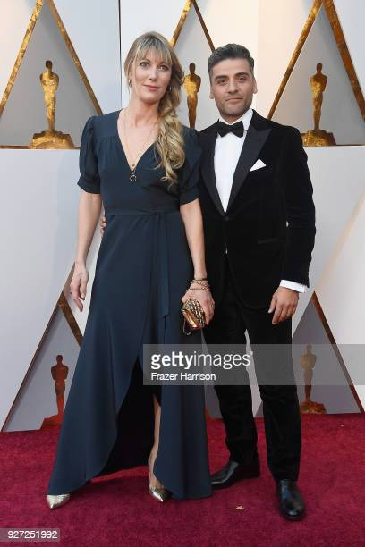 Elvira Lind and Oscar Isaac attend the 90th Annual Academy Awards at Hollywood Highland Center on March 4 2018 in Hollywood California
