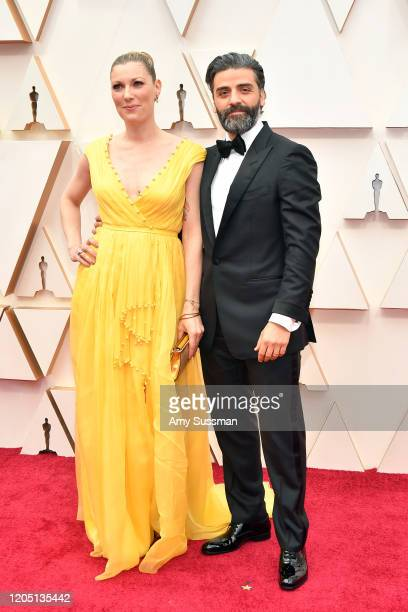 Elvira Lind and Oscar Isaac attend the 92nd Annual Academy Awards at Hollywood and Highland on February 09 2020 in Hollywood California