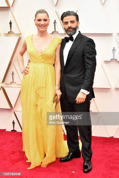 Elvira Lind and Oscar Isaac attend the 92nd Annual Academy Awards at Hollywood and Highland on February 09, 2020 in Hollywood, California.