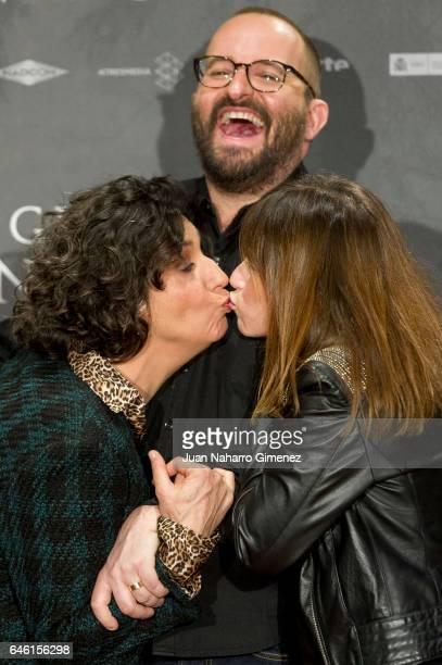 Elvira Minguez, Fernando Gonzalez Molina and Marta Etura attend 'El Guardian Invisible' photocall at Urso Hotel on February 28, 2017 in Madrid, Spain.