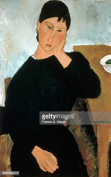 Elvira Resting at a Table by Amedeo Modigliani