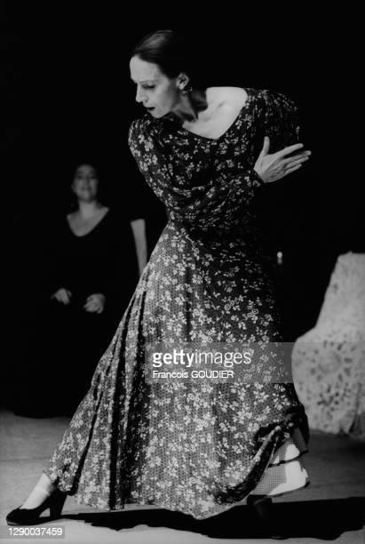 Elvira Velasco, lors d'un spectacle de Flamenco à Paris en octobre 1999, France