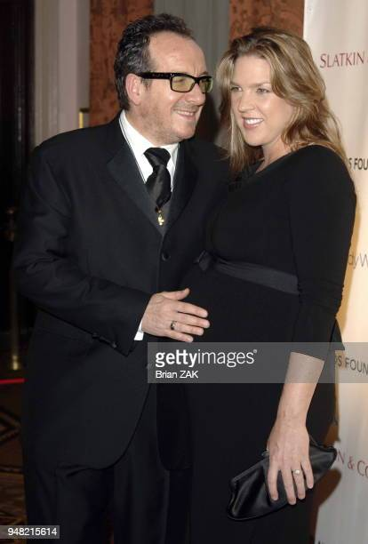 Elvis Costello and Diana Krall arrive to The Elton John AIDS Foundation's Fifth Annual Benefit ÒAn Enduring VisionÓ held at The WaldorfAstoria Hotel...
