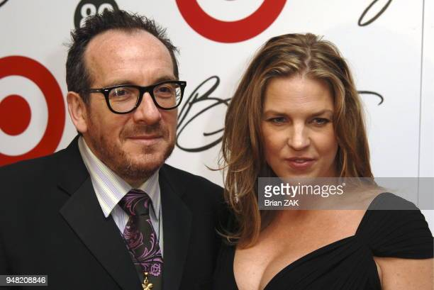 Elvis Costello and Diana Krall arrive to Tony Bennett's 80th Birthday Party held at the Rose Center for Earth and Space in the Museum of Natural...